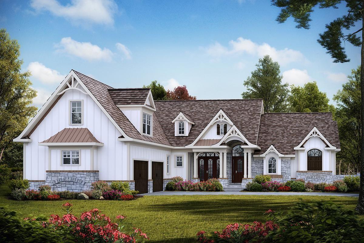 House Plan 699 00250 Craftsman Plan 3 297 Square Feet 3 Bedrooms 3 5 Bathrooms Maine House Craftsman House House Exterior