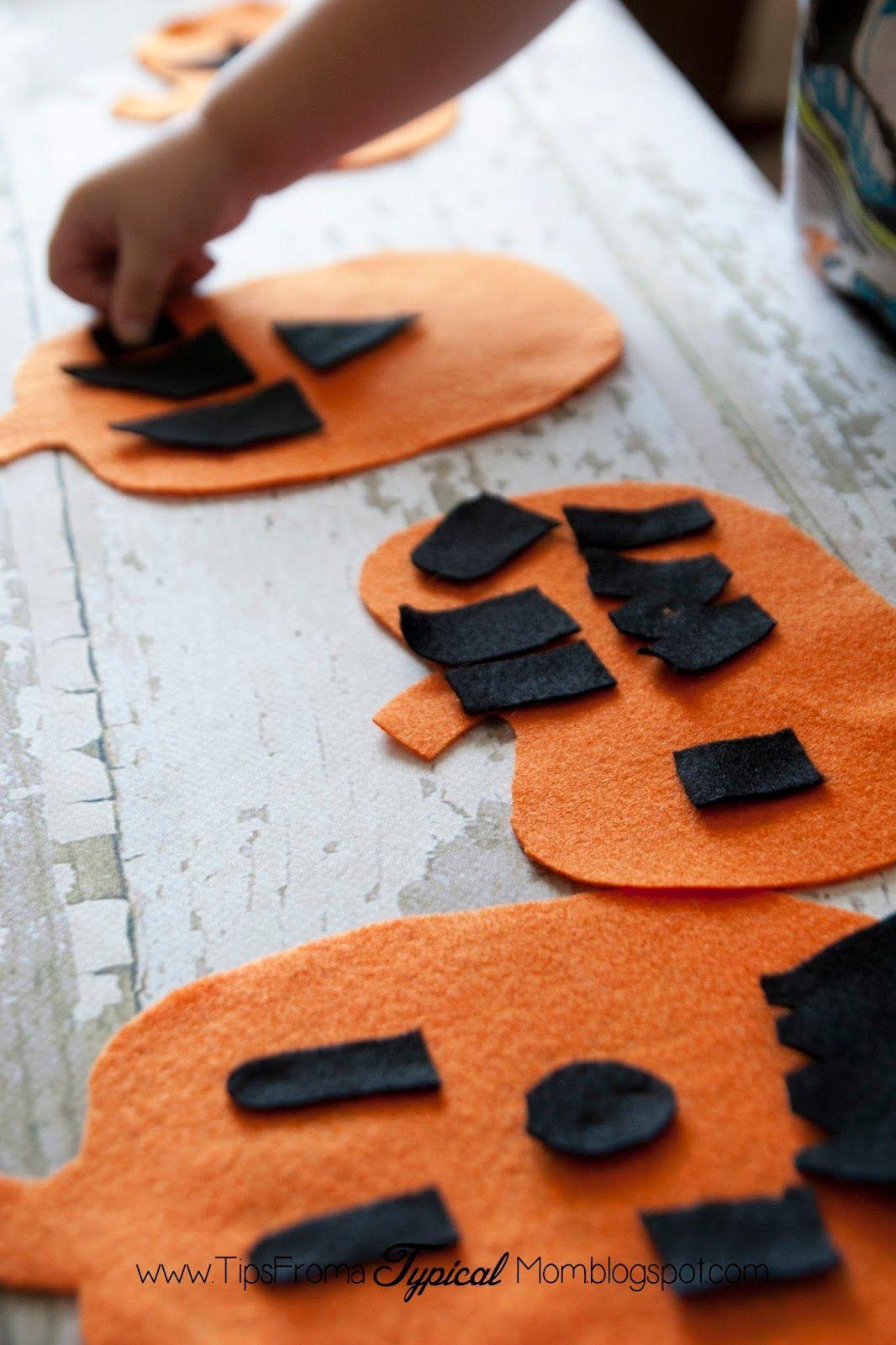 Felt Pumpkin Jack O Lantern Activity For Preschoolers Invitation To Play