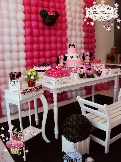Blog da Tikas Festaria * Festas Infantis Personalizadas * Provençal e Clean *: Tema Minnie Rosa * Showroom Julho/12