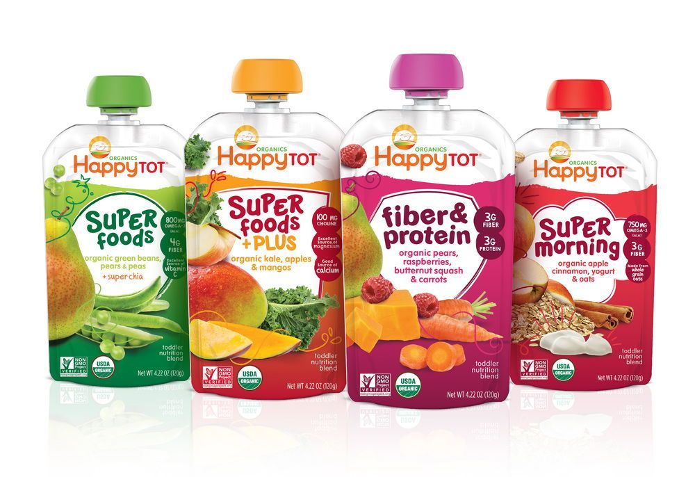 Happy Family's Tot Line Benefits of organic food, Baby