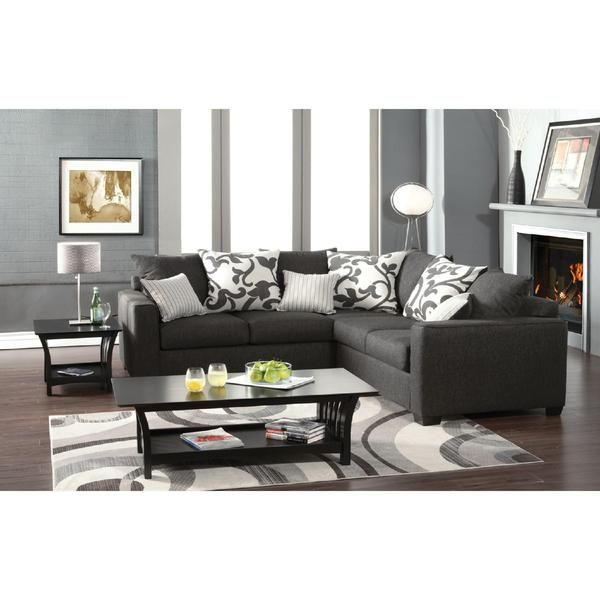 Best Venetian Worldwide Cranbrook Charcoal Gray Sectional Sofa 400 x 300
