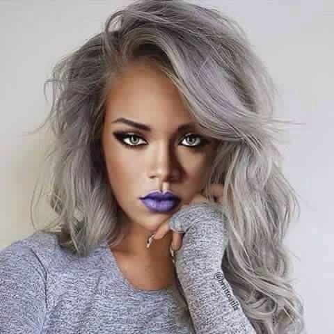 Rihanna With Gray Hair
