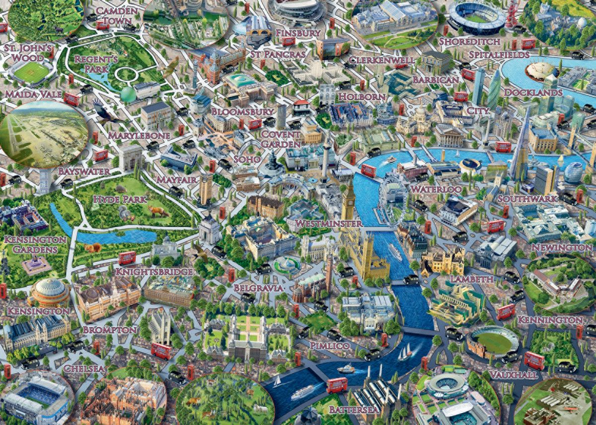 Map of London London Jigsaw Puzzle Map