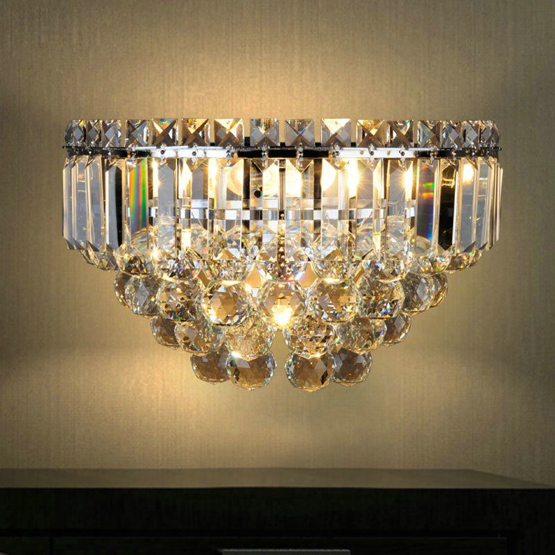 Nordic Simple Style Crystal Wall Light Living Room Dining Room Bedroom Lighting Crystal Wall Lighting Wall Lights Living Room Crystal Wall