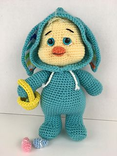 Chester Chick is a special Easter addition in the series of PJ Pals! Each doll standing approxing 15 inches (depending on tension of stitch and thickness of yarn), they are just the right size for snuggles for all ages!
