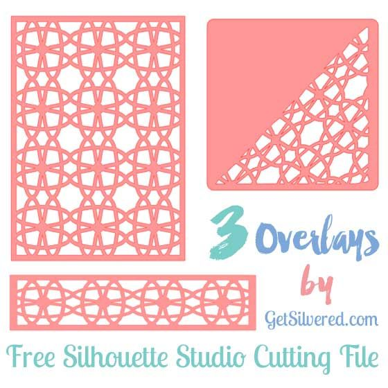 Set of three Overlays – Free Silhouette Cutting File.