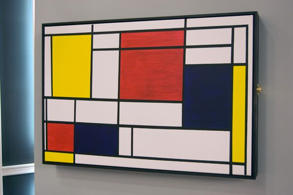 MONDRIAN STYLE ABSTRACT CUBES SQUARES OLD MASTER ART PAINTING PRINT 2573OMLV