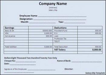 Basic Employee Salary Slip Format Template Excel Stress Free