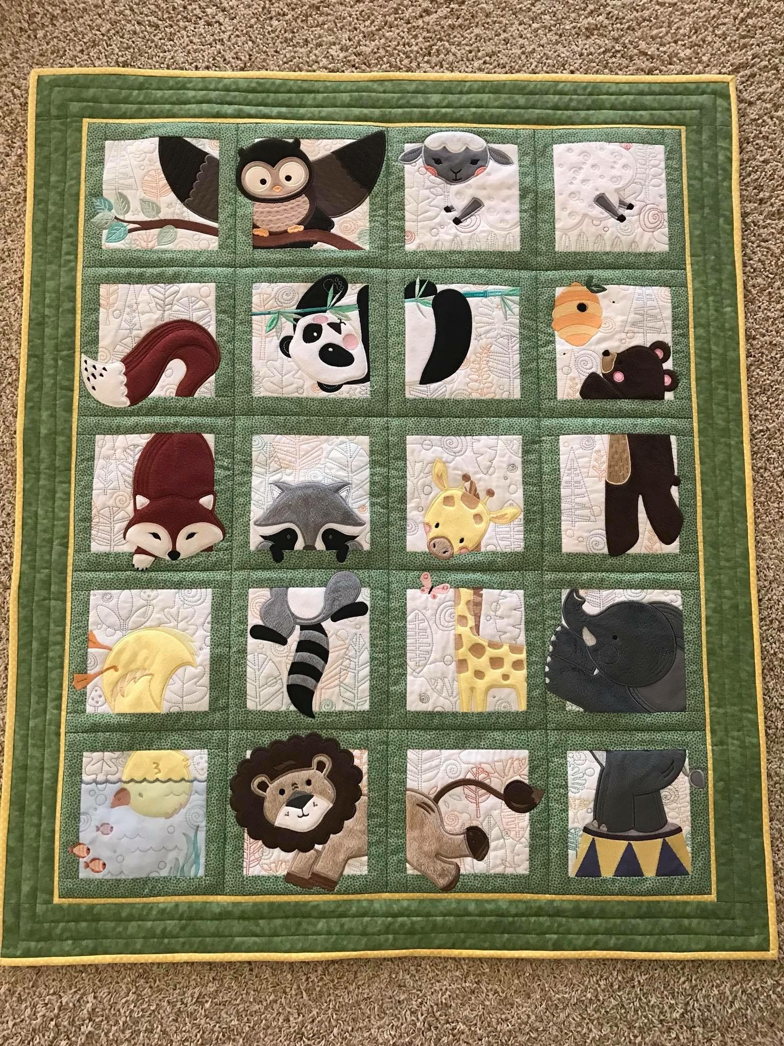 Animal Baby Quilt Patterns : animal, quilt, patterns, Yvette, Animal, Adventure, Quilt,, Quilts,, Childrens, Quilts