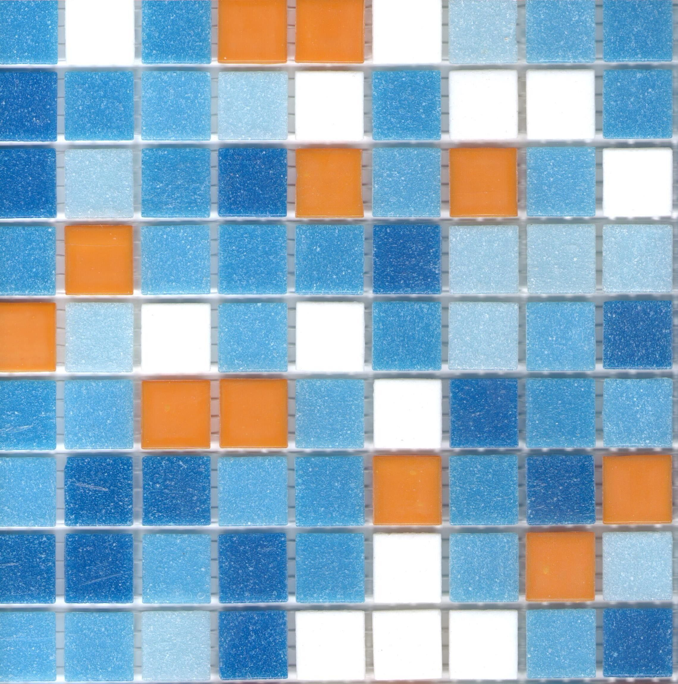 Brio newport blend glass mosaic tile 34 multicolor blue tile brio newport blend glass mosaic tile 34 multicolor blue tile square with orange dailygadgetfo Images