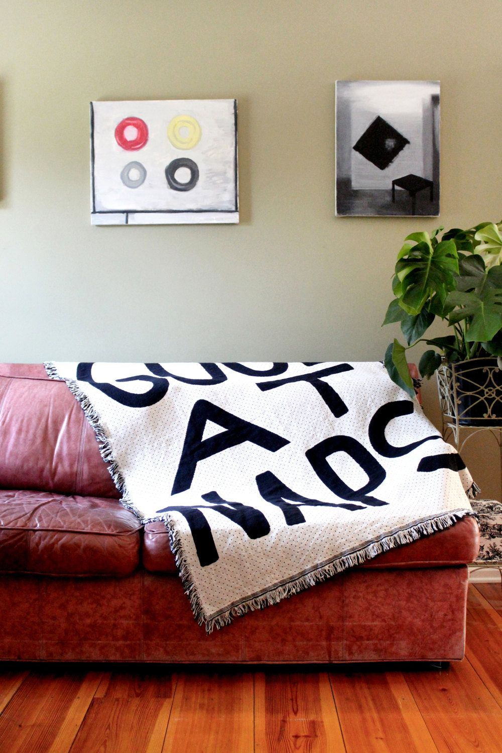 GOOD AT NAPS Throw Blanket - Black and White Blankets - Living Room ...