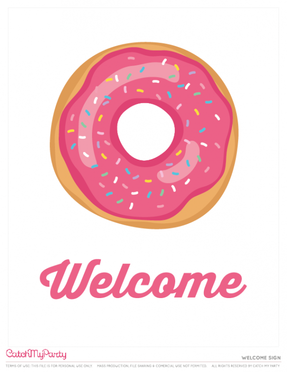 Image result for donut welcome sign