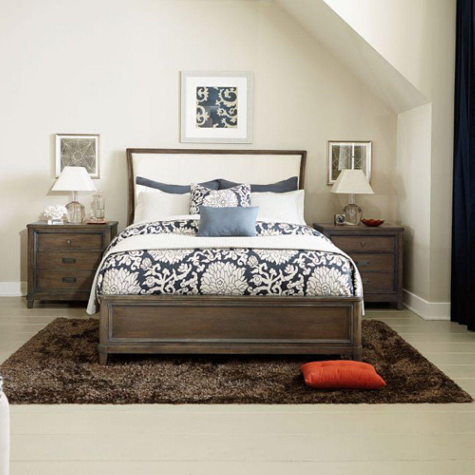 American Drew Park Studio Upholstered Sleigh Bed, Size