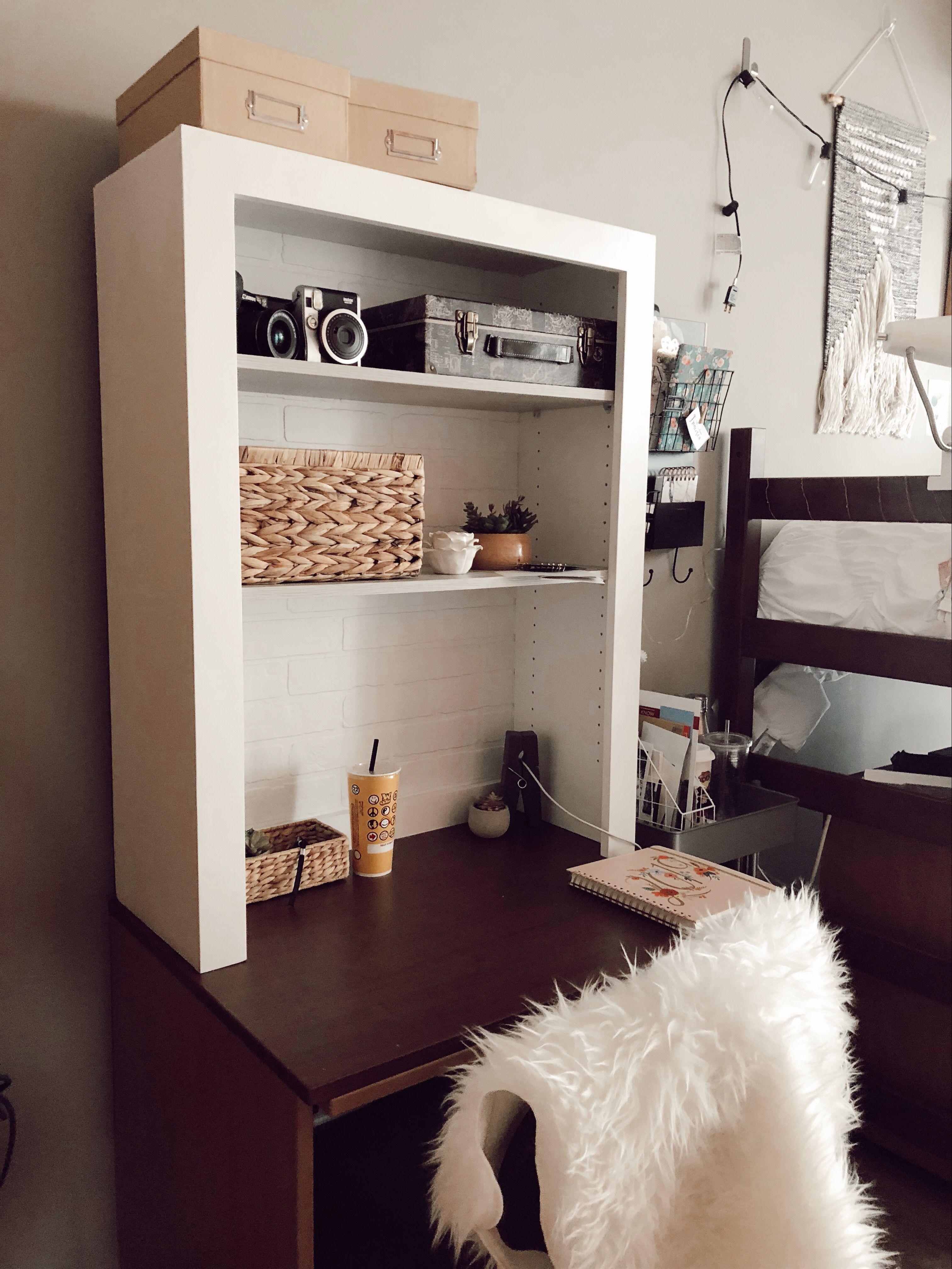 boho dorm room desk
