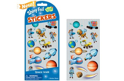 Peaceable Kingdom Shiny Foil Space Walk Sticker Pack Mindware STK190
