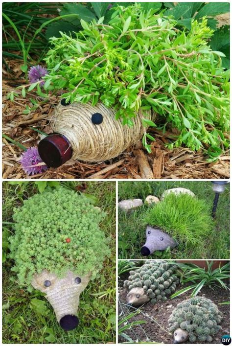 DIY Plastikflasche Igel Pflanzer Instructions-20 DIY Upcycled Container #plasticbottleart
