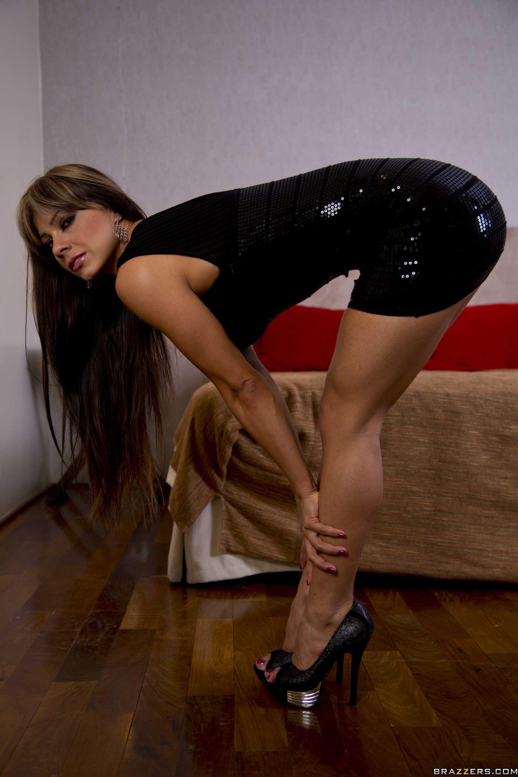 Superb busty moms high heels