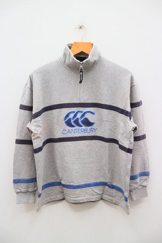 Vintage CANTERBURY Of New Zealand Big Logo Sportswear Gray