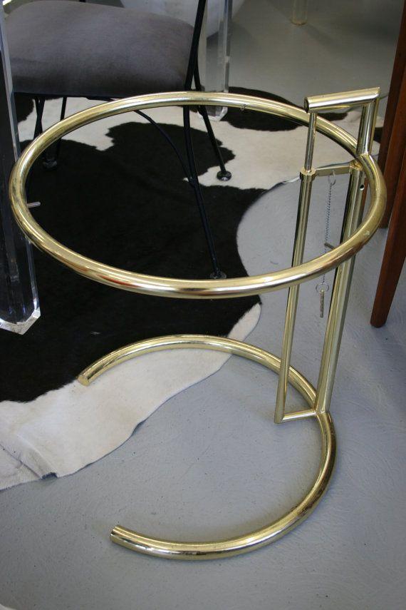 Eileen Gray Brass Side Table Eileen Gray Brass Side Table