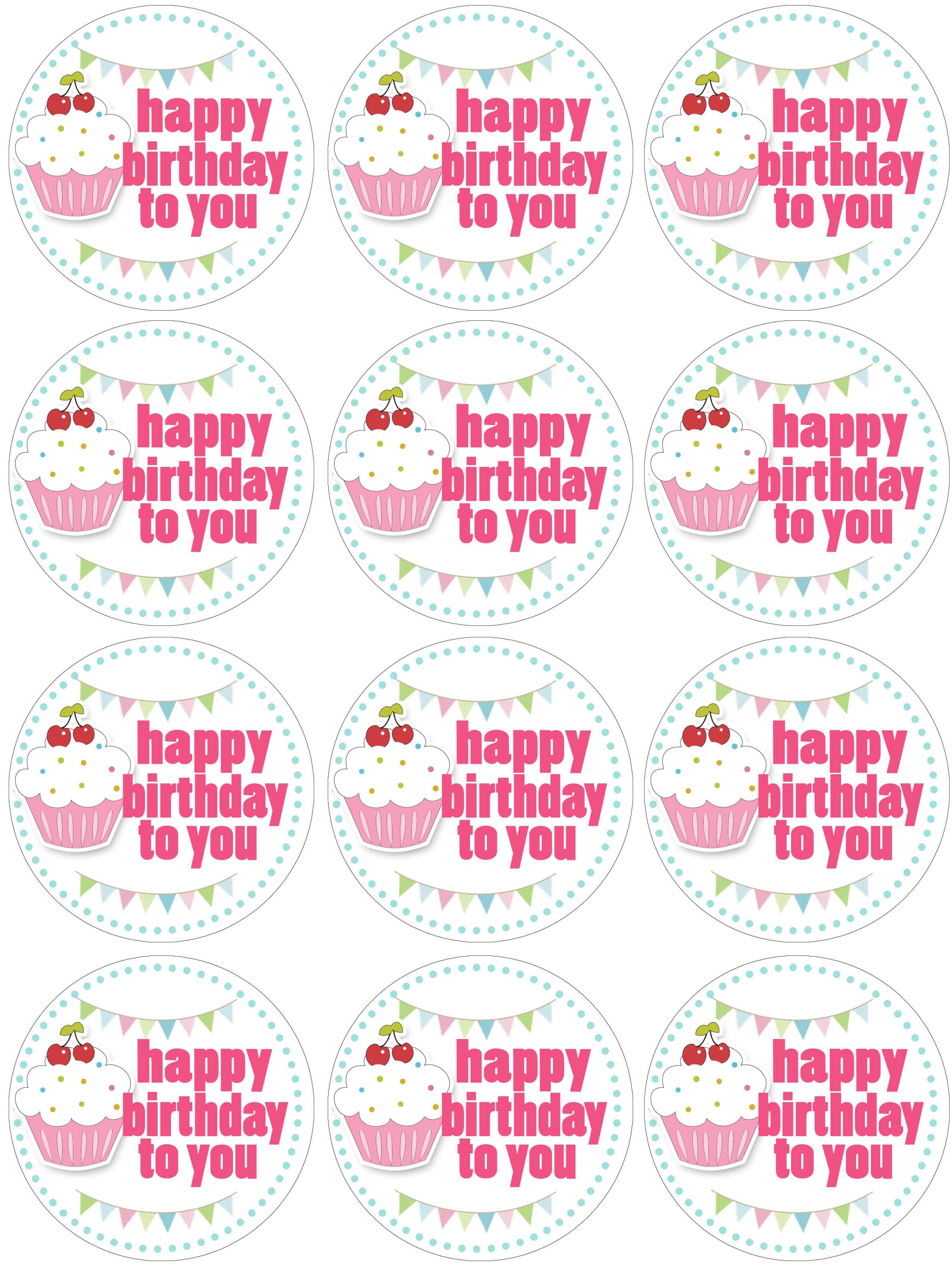 Cupcake Toppers Birthday Also Bannerinvitestent Cards And Water Bottle Labels