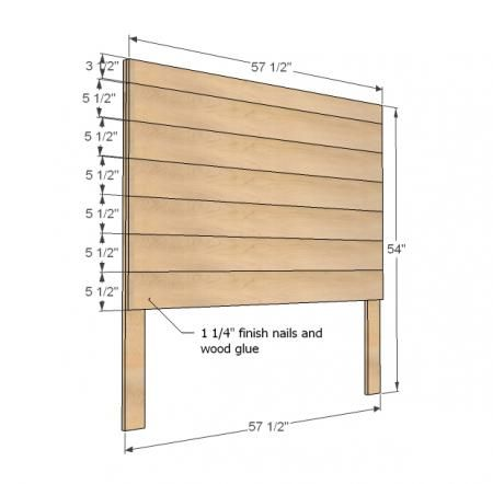 Ana white build a hailey planked headboard free and for Free headboard plans