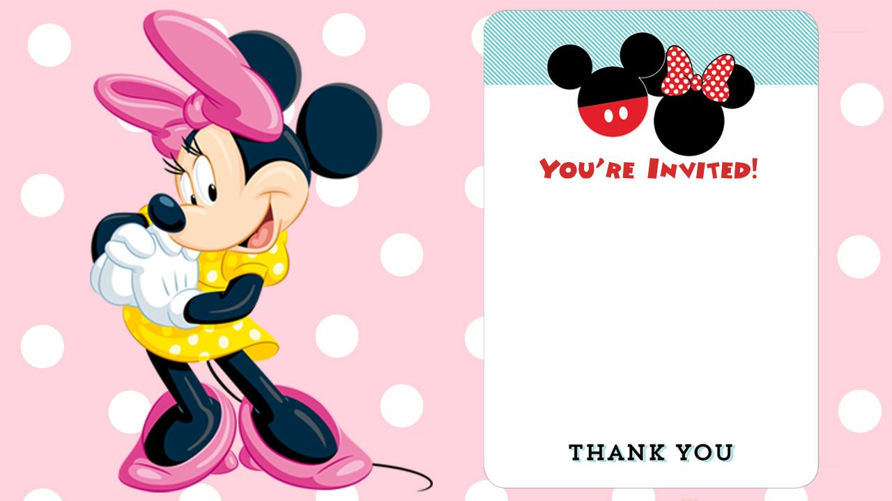Free Printable Minnie Mouse Birthday Invitation | Minnie mouse ...