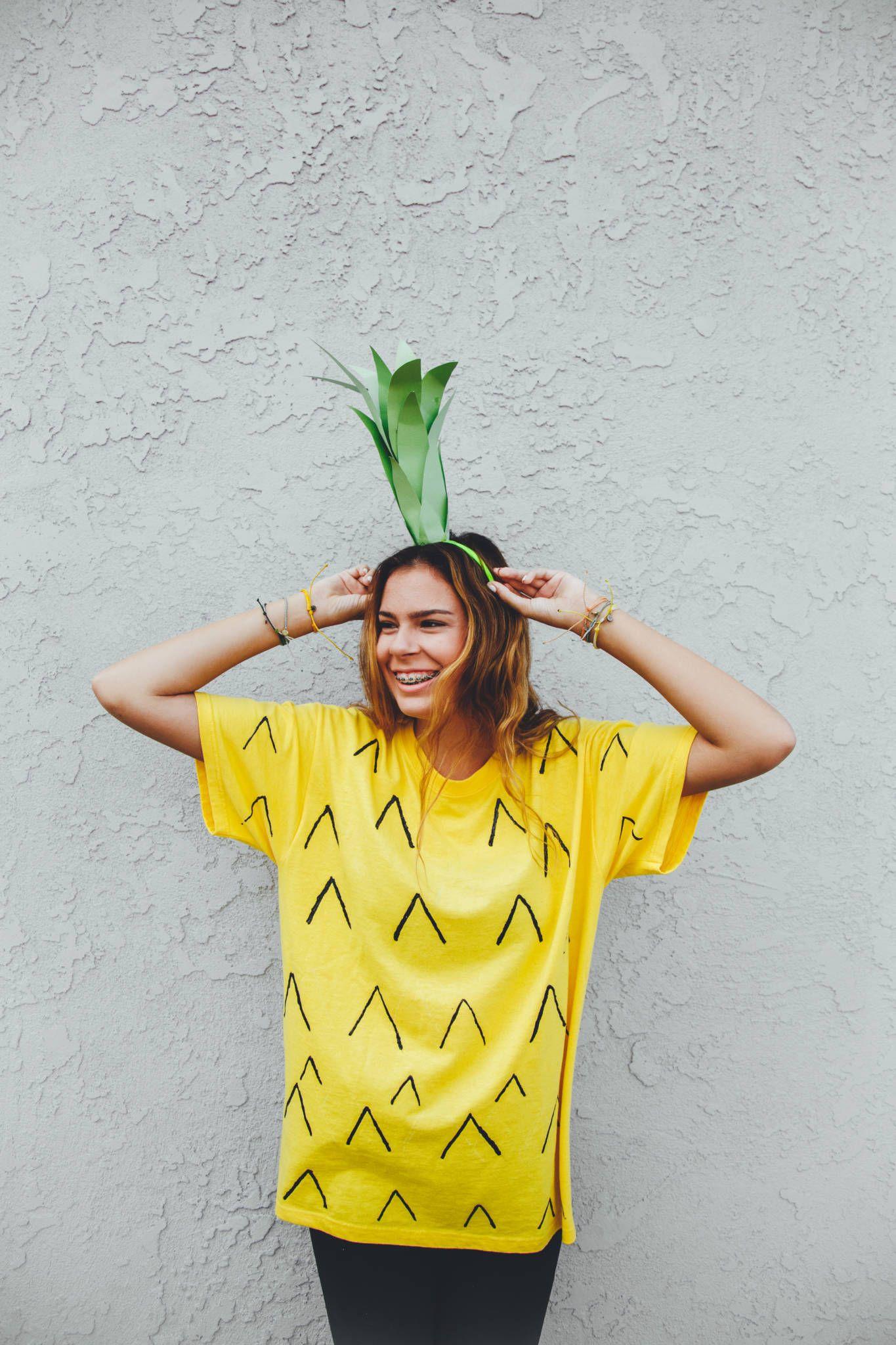 Be a Pineapple Halloween Costume DIY Tween halloween