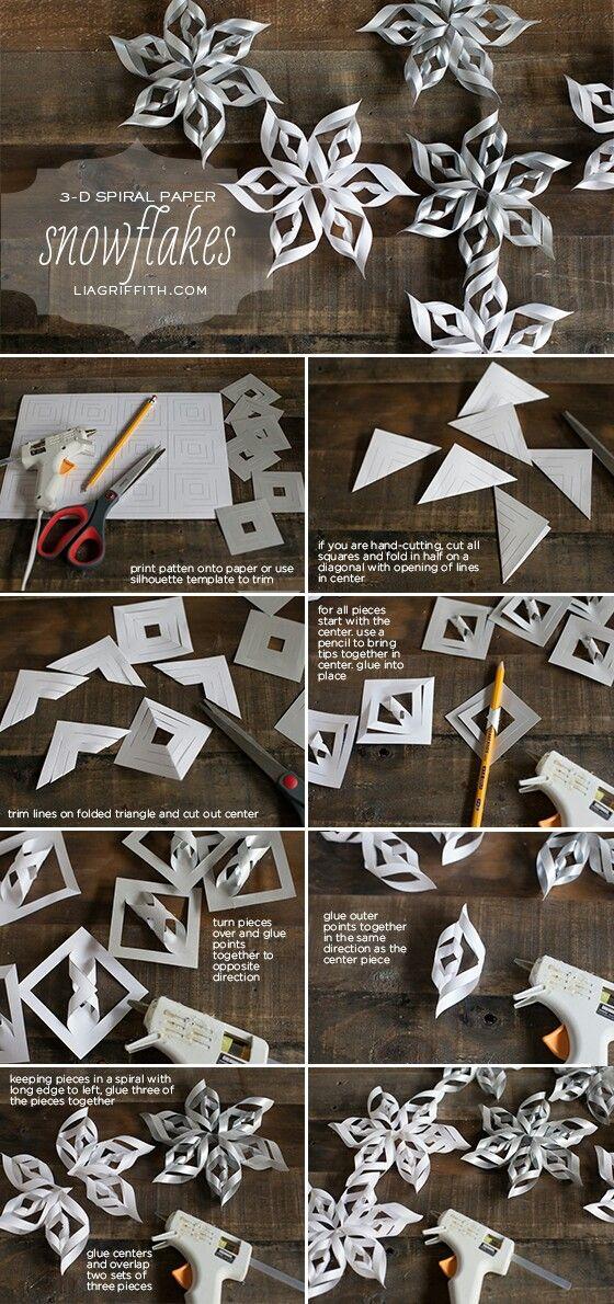 flocons en papier no l bricolage noel deco noel et. Black Bedroom Furniture Sets. Home Design Ideas