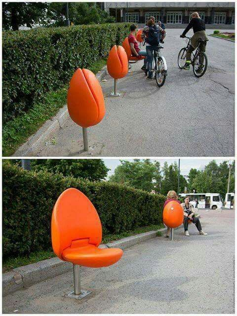 Tulip seats for public places in hollande the la team www for Imitazioni mobili design