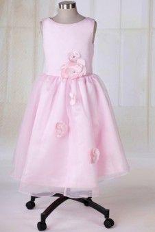 www.modame.i Abiti da Cerimonia bambini lunghezza Caviglia Romantico  Decorato con Rose Pizzo Decorazioni Raso Jewel 6ea83c39c3e