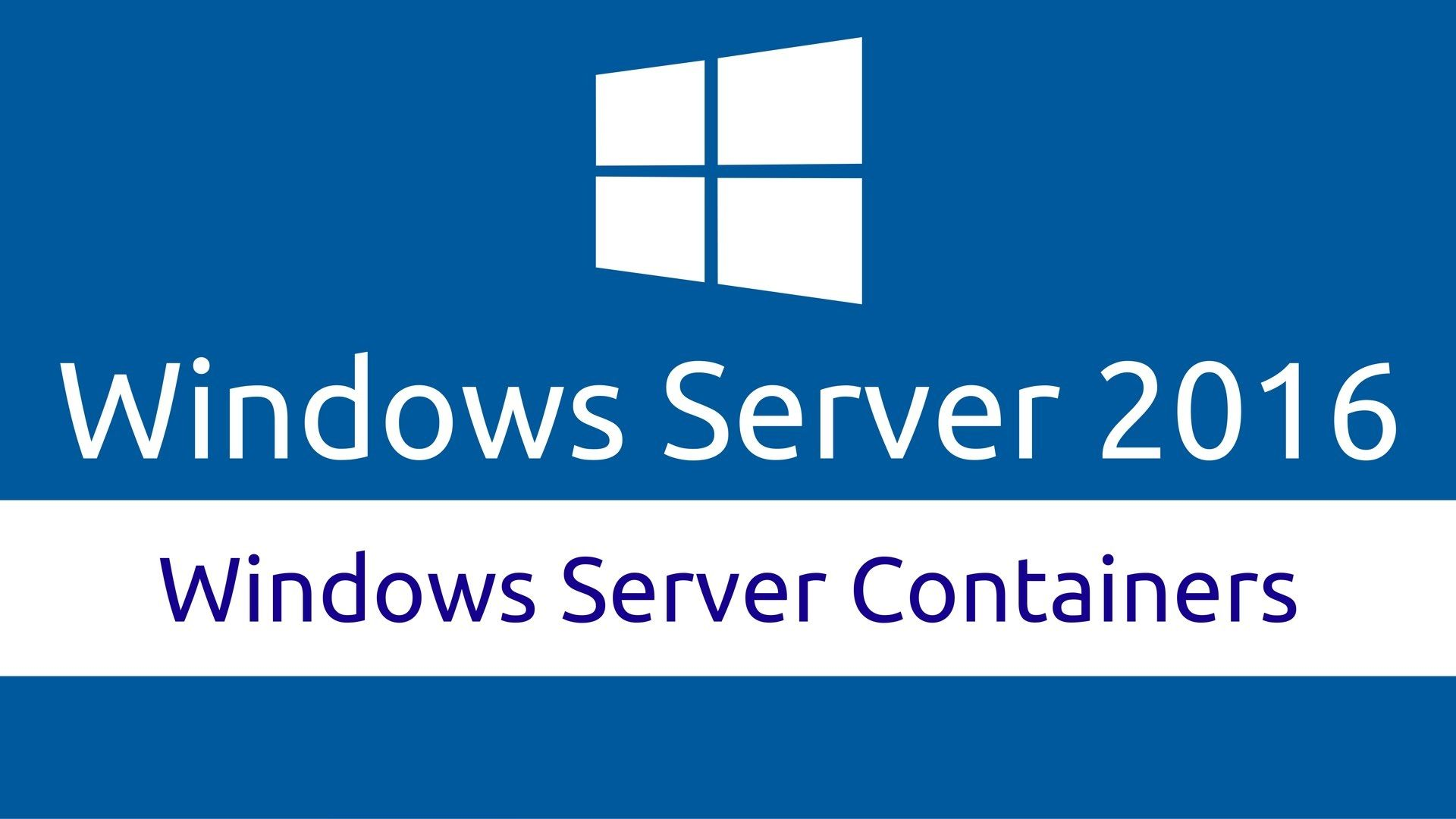 Linux Containers On Windows Server 2016
