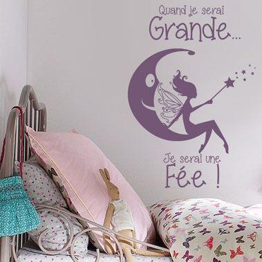 Sticker Chambre De Fille - Je Serai Une Fée | Stickers Muraux