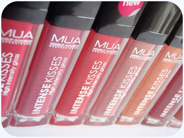 Midnight Violets || UK MakeUp & Beauty Blog: Swatches: MUA Intense Kisses Lipglosses (Full set)