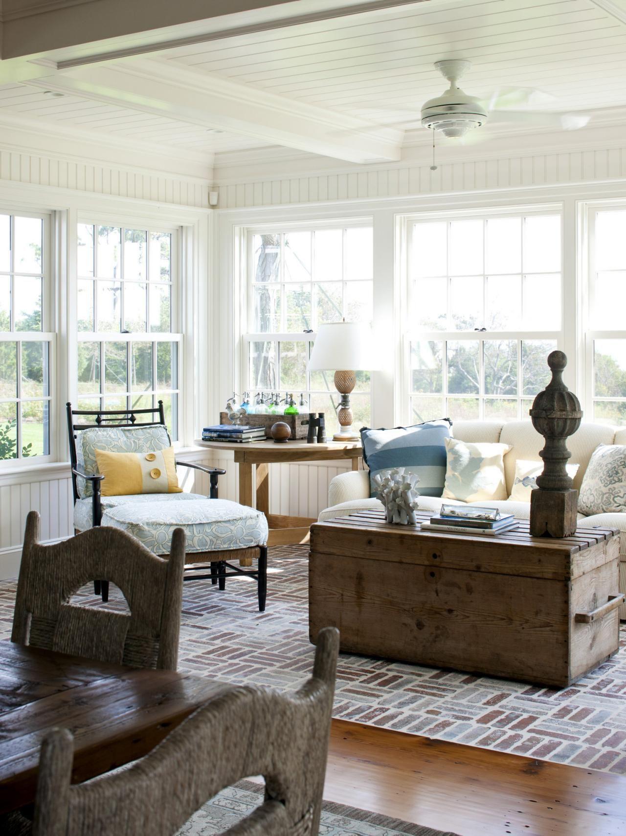 26 Bright + Happy Sunroom Design Ideas in 2020 | Coastal ...