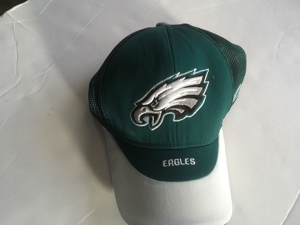 2ff6b7ef594 Philadelphia Eagles Mesh Back Cap Official NFL Reebok Green Color ...