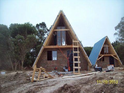 Caba a alpina madera tronco ladrillos economica youtube a frame house pinterest cabin - Cabanas de madera economicas ...