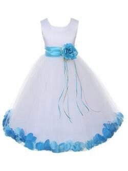 62be23ffc Malibu blue Flower girl dress | ideas for wedding | White flower ...