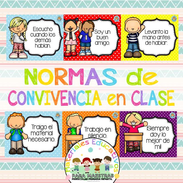 Normas Convivencia Clase Normas De Convivencia Convivencia En La Escuela Normas Del Aula