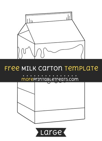 Free Milk Carton Template - Large Shapes and Templates Printables - Milk Carton Template