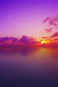 Purple sunset iPhone 4s wallpaper