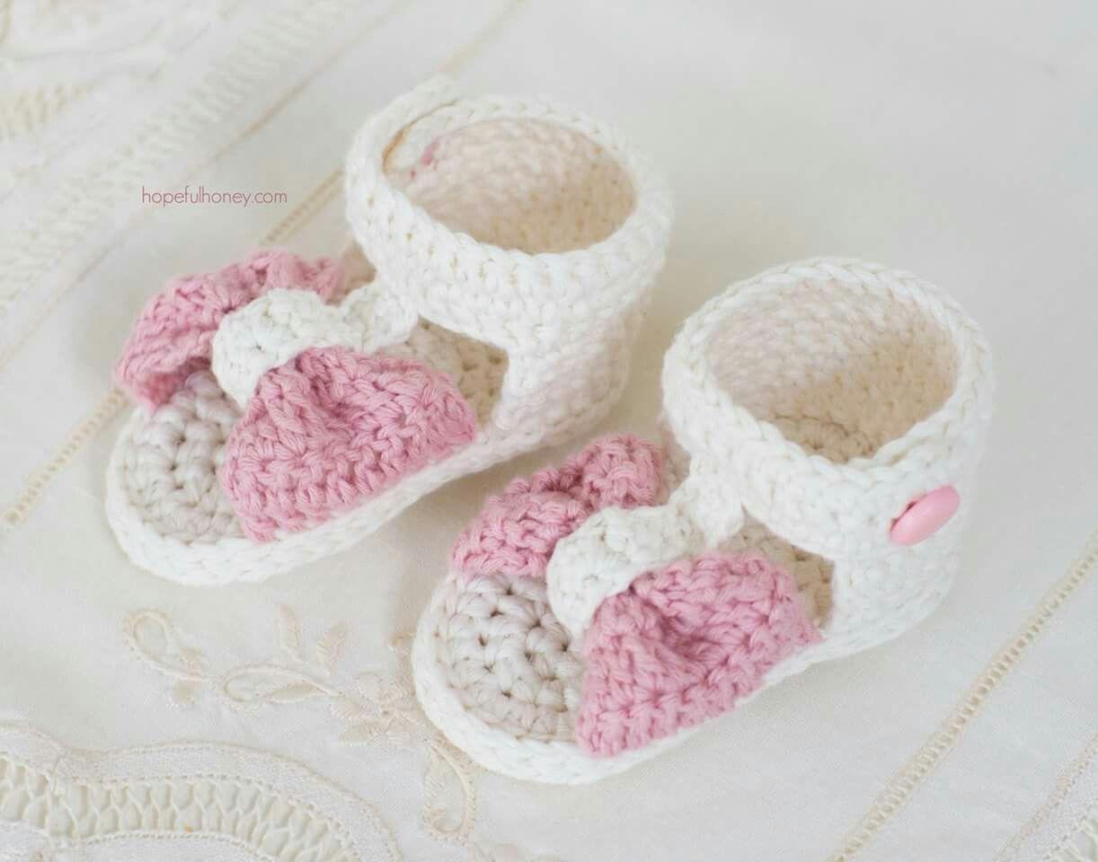 Increíble Mary Jane Zapatillas De Ganchillo Bebé Patrones Libres ...