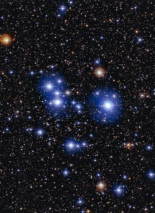 The Brilliant BlueWhite Colors Of These Stars Are An Indication