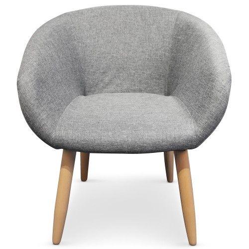 Chaise Fauteuil Style Scandinave Frost Gris Deco Maison Pinterest - Chaises fauteuil scandinaves