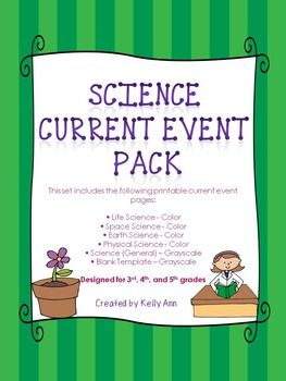 Science Current Events Worksheets Bundle | Science current ...