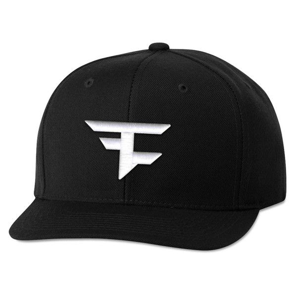 FaZe Clan 6 Panel Snapback Hat - White on Black  cfc3abe5fdb