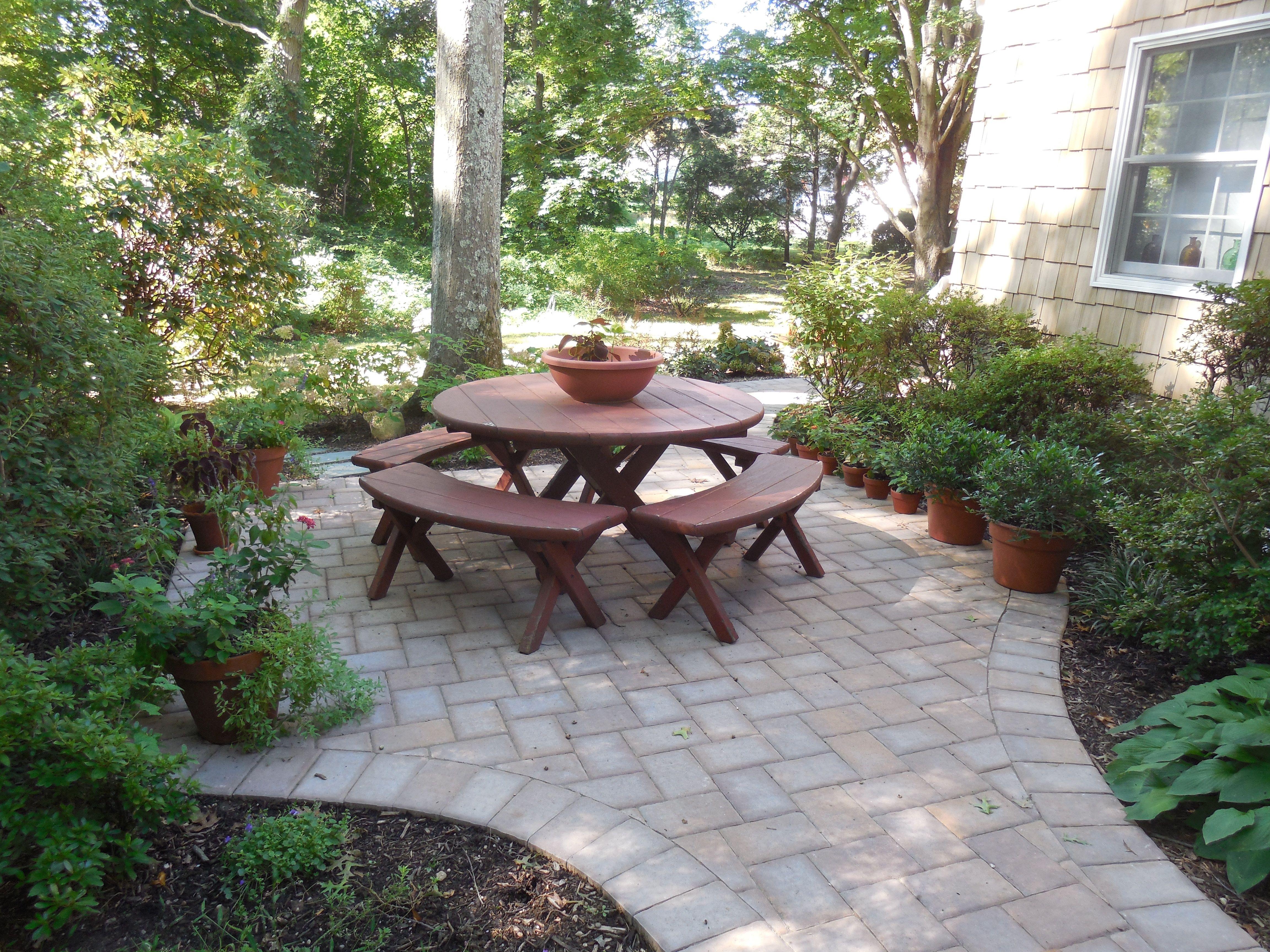 Pin By Nova Williams On Hardscapes Hardscape Patio Concrete Pavers Backyard garden arcadia wi