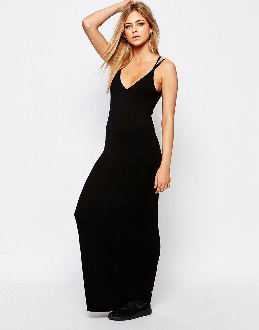 Cross back strappy maxi dress