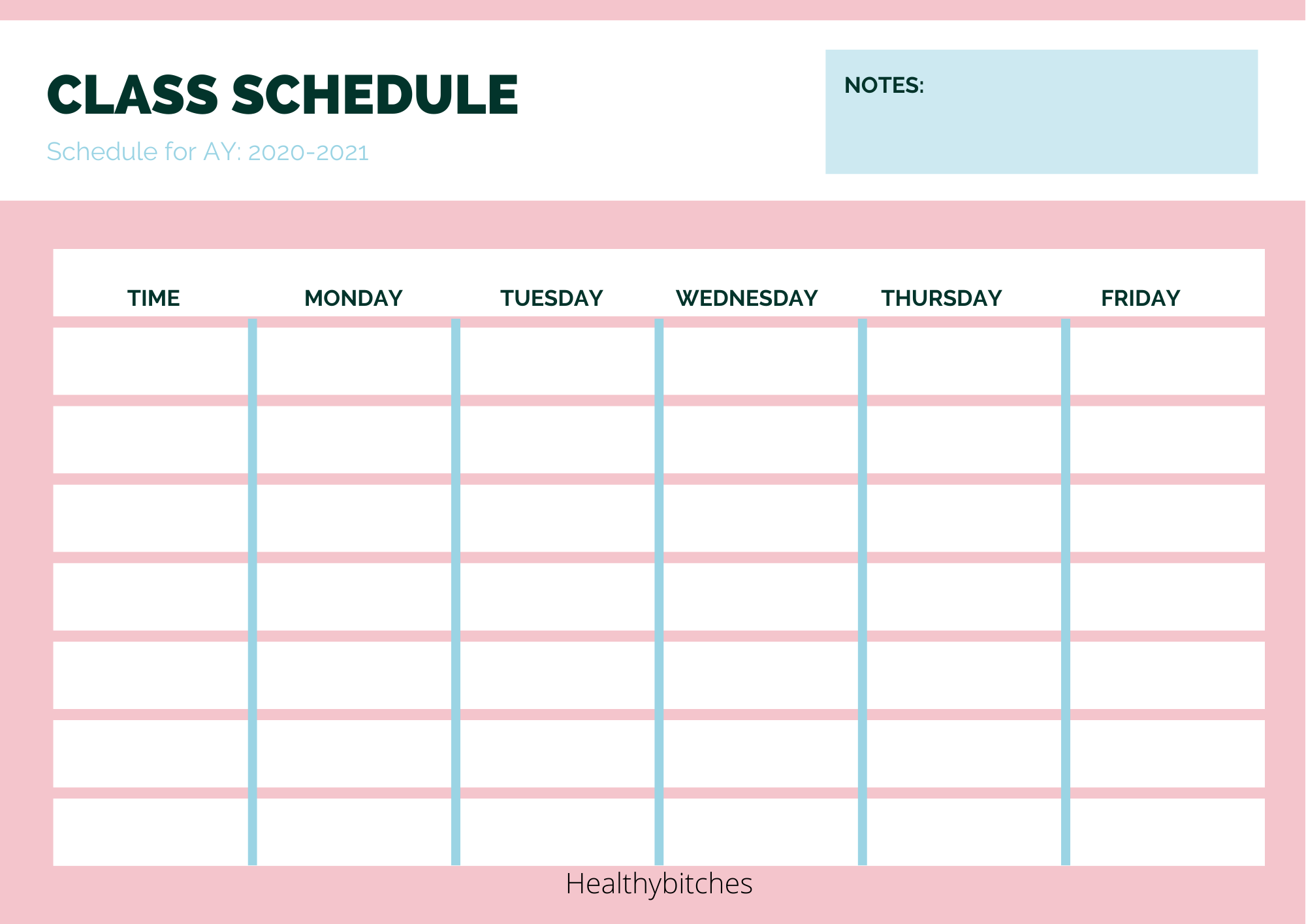 Useful Study Templates That Every Student Needs Class Schedule Template Study Schedule Template Study Planner Printable