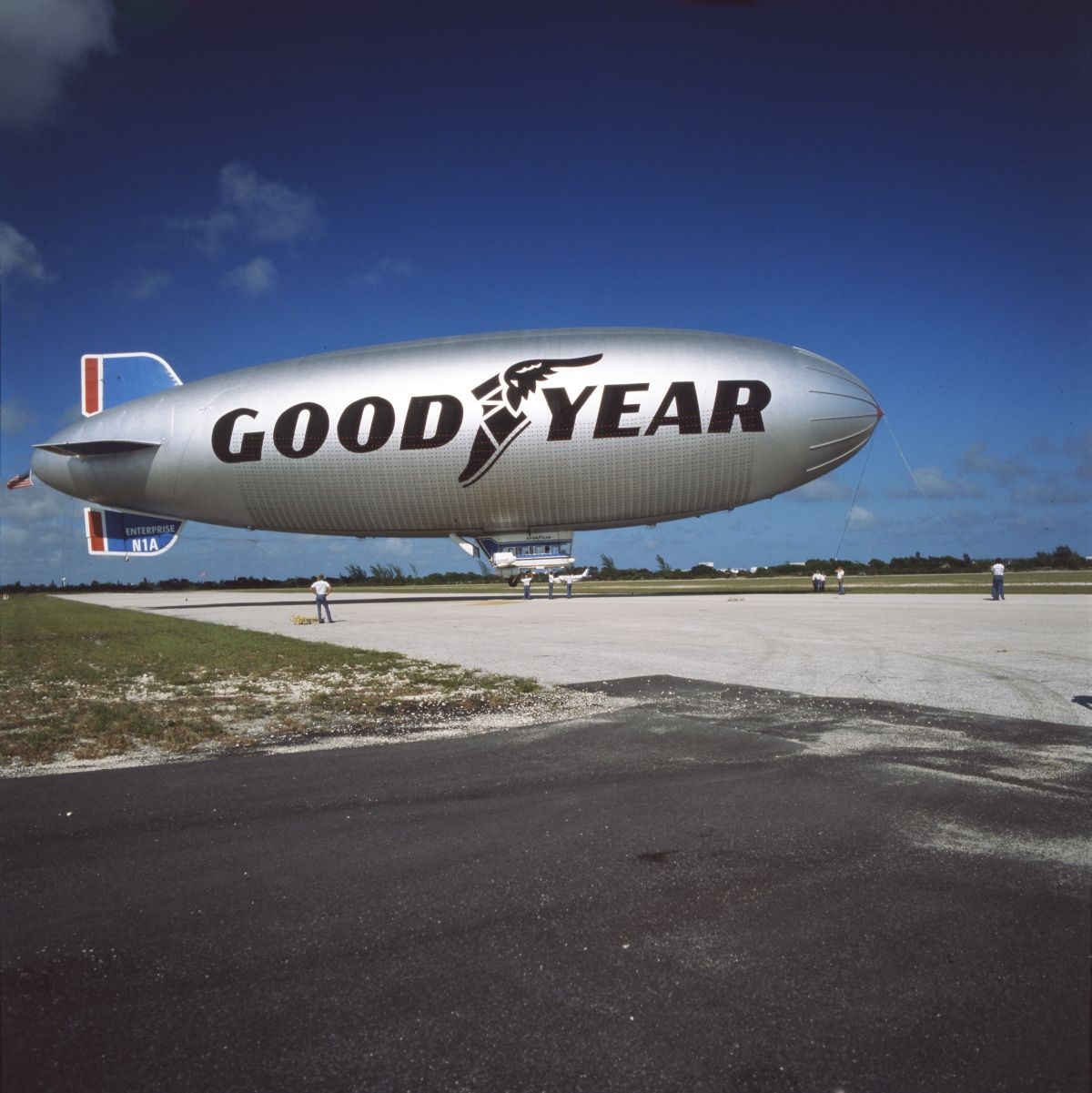 The Goodyear Blimp At Pompano Beach In The 1980s Florida Memory