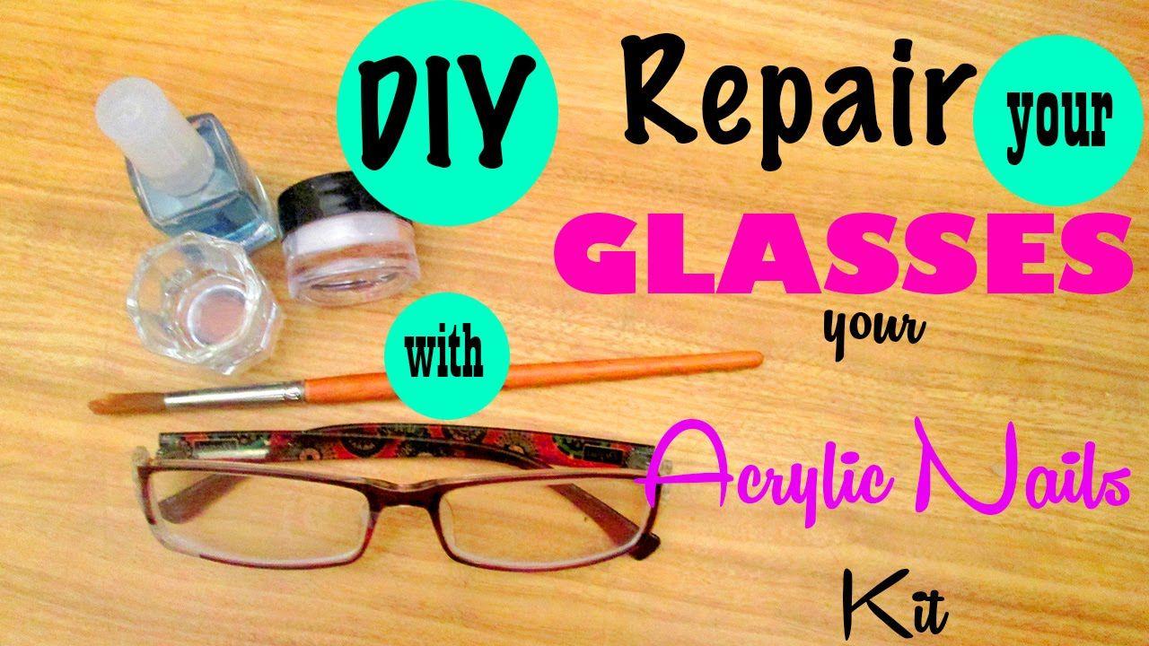 Diy repair the broken plastic rim of your glasses with